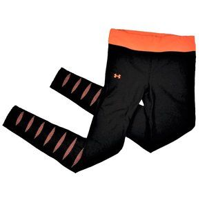 Under Armour Coldgear Fitted Leggings Warm w/Neon